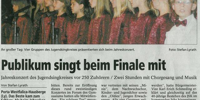 Publikum singt beim Finale mit, Copyright MINDENER TAGEBLATT / MT ONLINE 15. Juni 2007