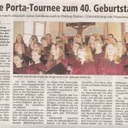 Kleine Porta-Tournee zum 40. Geburtstag Copyright MINDENER TAGEBLATT / MT ONLINE 30. April 2008