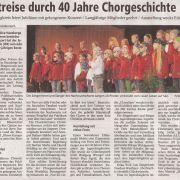 Zeitreise durch 40 Jahre Chorgeschichte Copyright MINDENER TAGEBLATT / MT ONLINE 02. September 2008