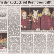 Wenn der Kuckuck auf Beethoven trifft Copyright MINDENER TAGEBLATT / MT ONLINE 23. Juni 2010