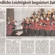 Jugendliche Leichtigkeit begeistert Zuhörer Copyright MINDENER TAGEBLATT / MT ONLINE 13. Dezember 2011