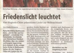 Friedenslicht leuchtet Copyright MINDENER TAGEBLATT / MT ONLINE 17. Dezember 2013