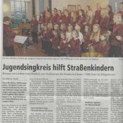 Jugensingkreis hilft Straßenkindern Copyright MINDENER TAGEBLATT / MT ONLINE 09. September 2014